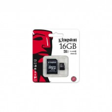 Kingston 16GB micro SDHC uhs-i Class 10+SD adaptor